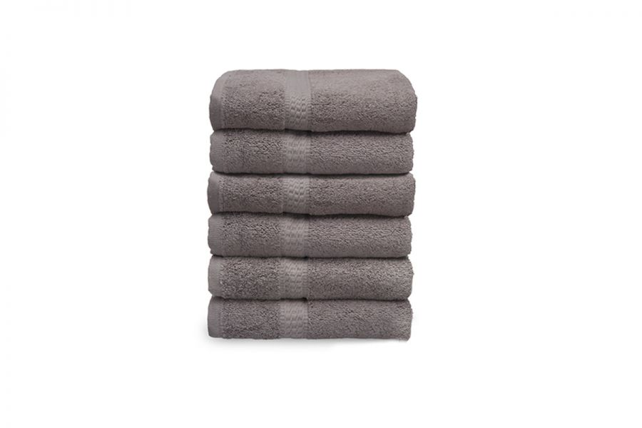 Vitality Pur Luxe handdoeken 6 pack 50 x 100 cm Taupe