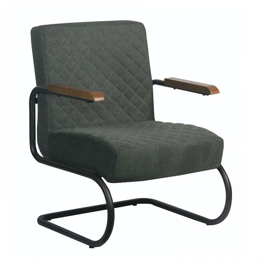 Fauteuil Faye stof antraciet